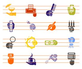 Busy Hands Vector Icons Collection