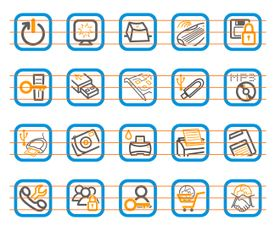 Computer Pictogram Vector Icons Collection