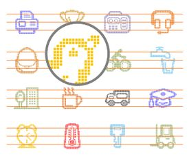 Pixel Icons Vector Collection Vol 1