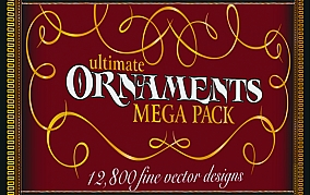 Ultimate Ornaments megapack Design and Elements