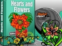 Hearts Flowers Design and Elements Collection